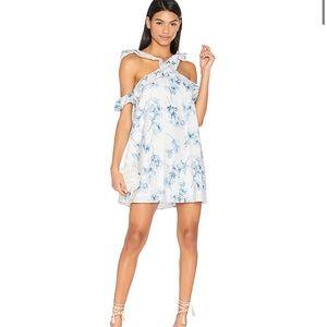 J.O.A floral print cold shoulder dress XS